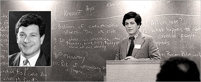 A young John M. Eisenberg as a physican and professor at the University of Pennsylvania's Leonard Davis Institute of Health Economics.
