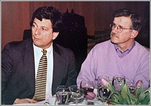 John Eisenberg, MD, and Wharton School Professor Mark Pauly at a Penn LDI function
