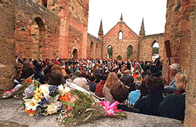 Australia's Port Arthur mass murder site that  caused the country to enact strict gun control laws.