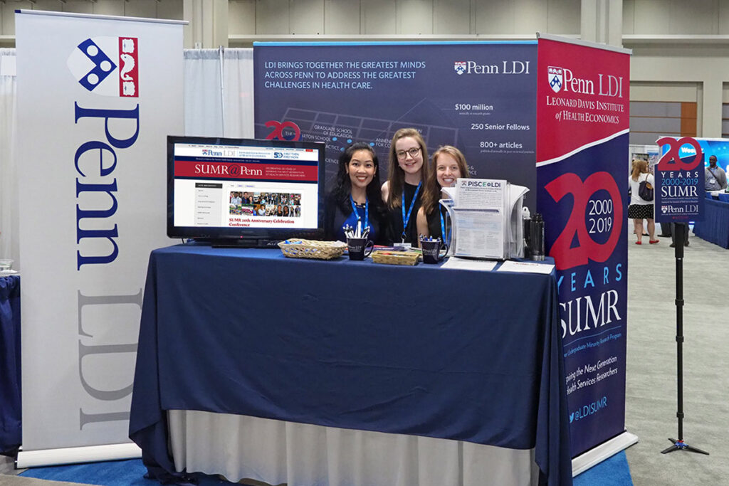 The LDI booth at the 2019 AcademyHealth Annual Research Meeting