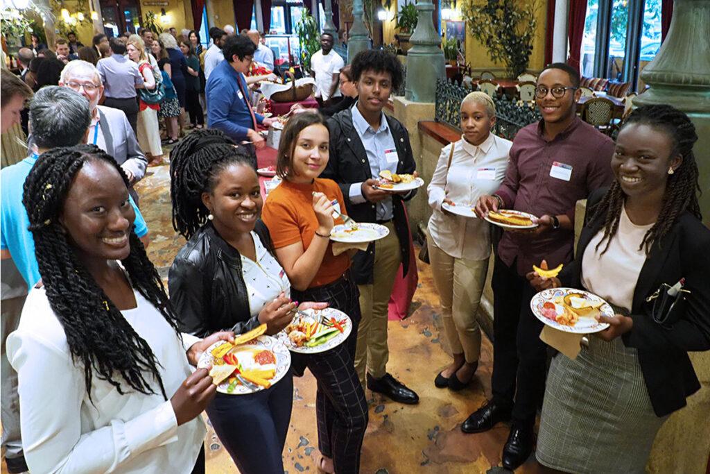 Penn SUMR Scholars Aminata Jalloh, Phiwie Ndebele-Ngwenya, Kayla Dunn, Abeselom Gebreyesus, Kaliya Greenidge, Bryson Houston, and Brittany Wiafe.