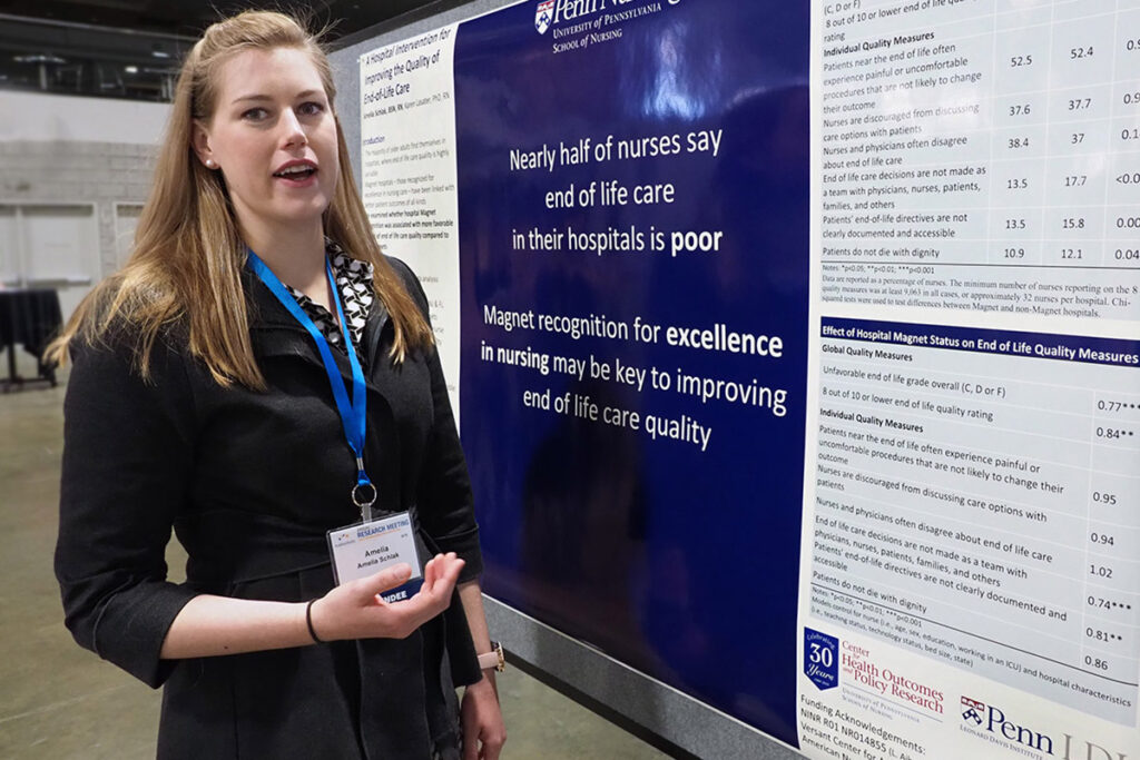 University of Pennsylvania Nursing School RWJF Future of Nursing Scholar and LDI Associate Fellow Amelia Schlak, BSN, RN