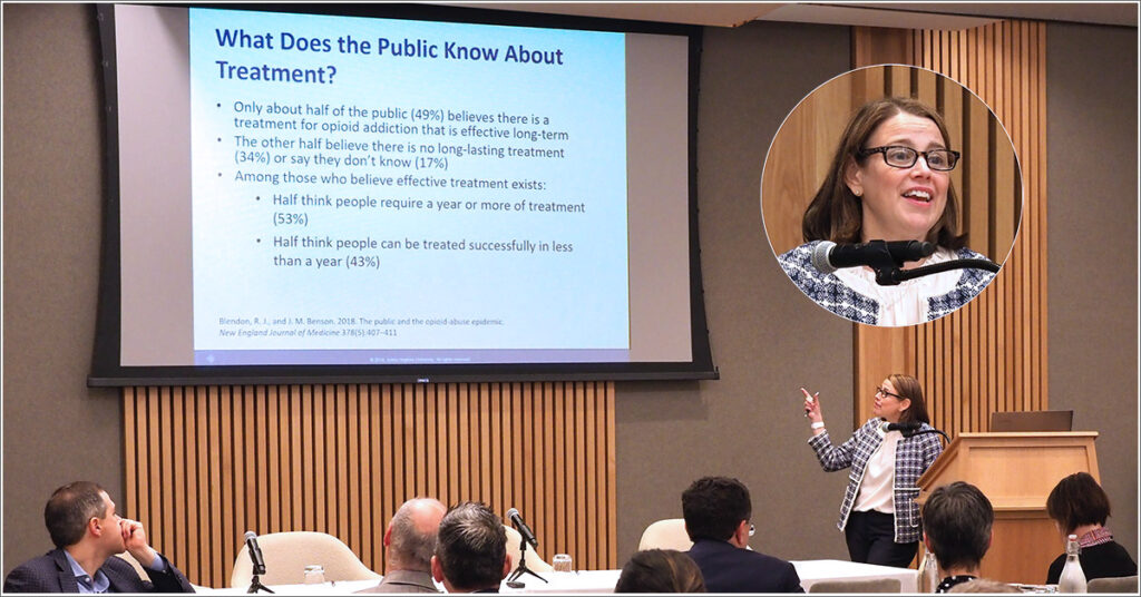 Colleen Barry, PhD, MPP, Professor and Chair of the Department of Health Policy and Management at the Johns Hopkins University School of Public Health