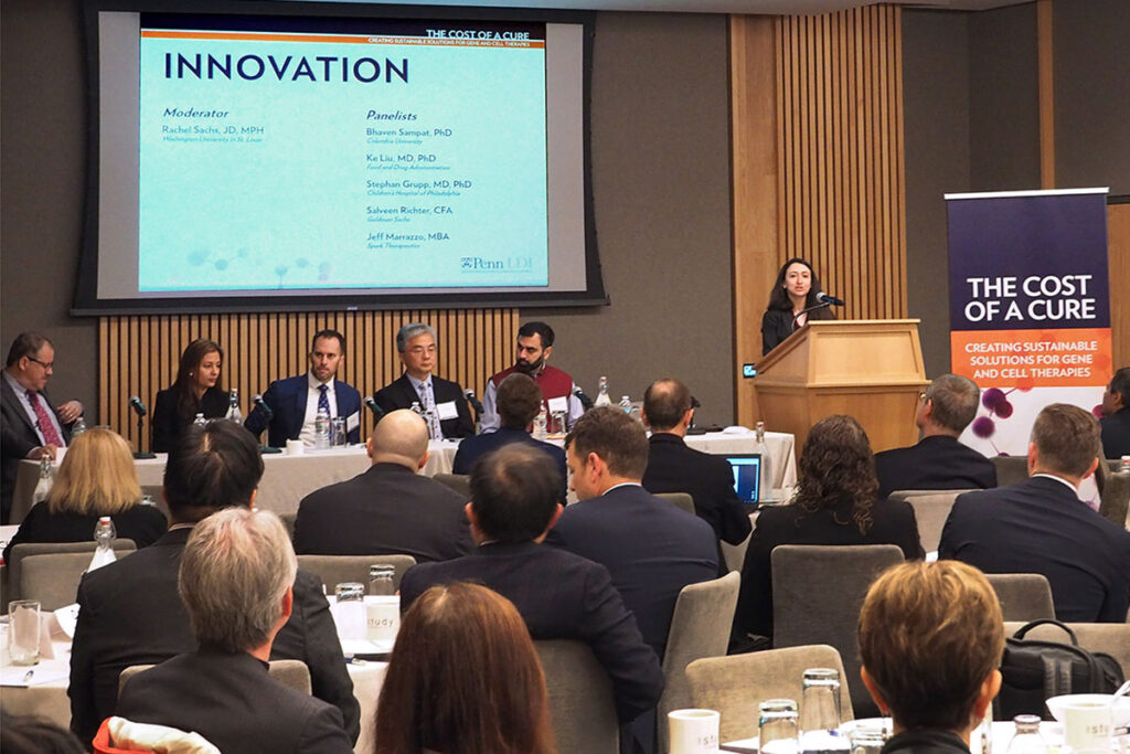 """Moderating a """"Innovation"""" panel was Rachel Sachs, JD, MPH, Associate Professor of Law and Health Law at Washington University in St. Louis"""
