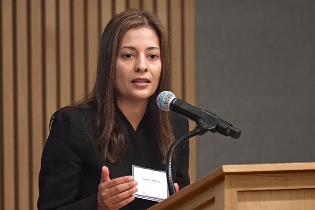 """Speaking on a """"Innovation"""" panel was Salveen Richter, CFA, Vice President and Senior Analyst for Biotechnology Equity Research in Global Investment at Goldman Sachs"""