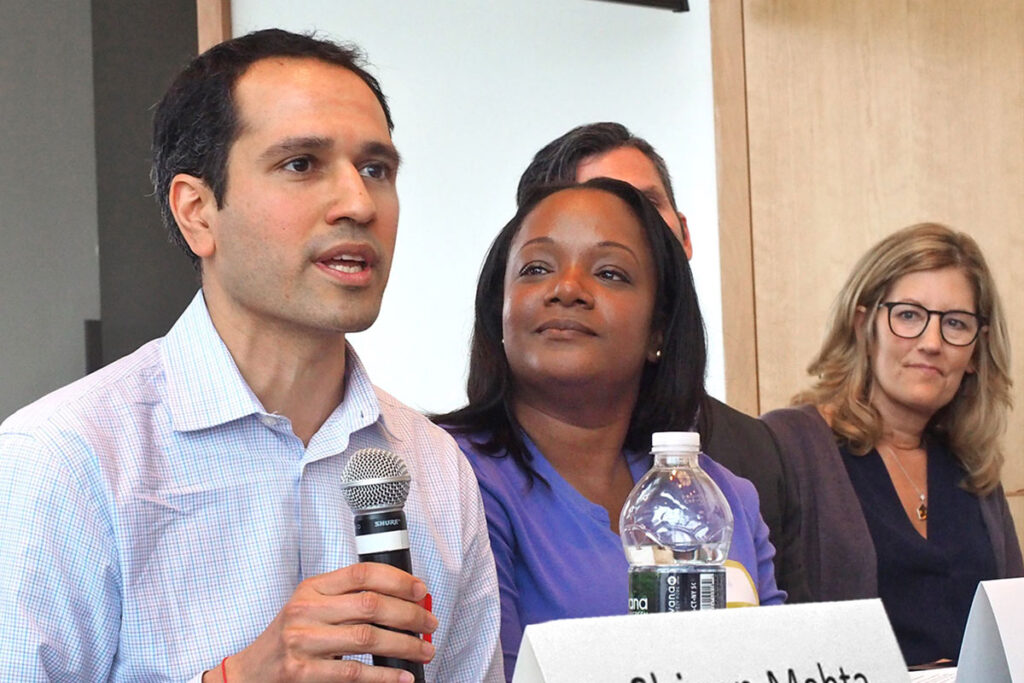 Shivan Mehta, Associate Chief Innovation Officer at the Penn Medicine Center for Health Care Innovation, Kamilah Jackson, MD, MPH, Deputy Chief Medical Officer for Child and Adolescent Services at DBHIDS, and Cherie Brummans, MBA, CEO of the Alliance of Community Service Providers.