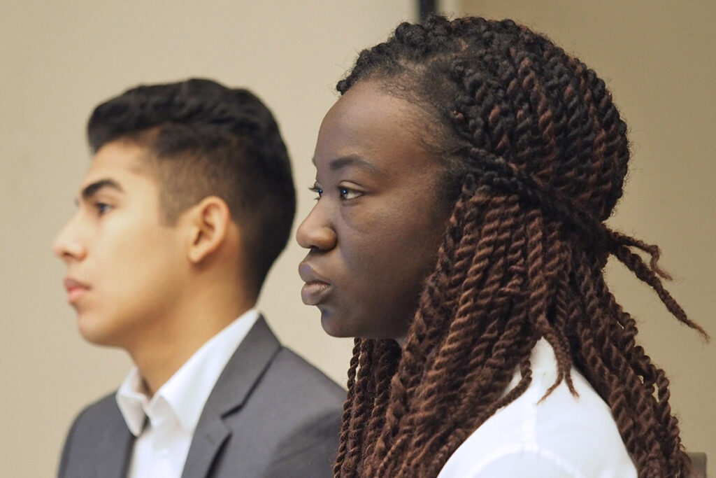 Brian Valladares of Williams College, and Brittany Wiafe of the University of North Carolina at Chapel Hill.