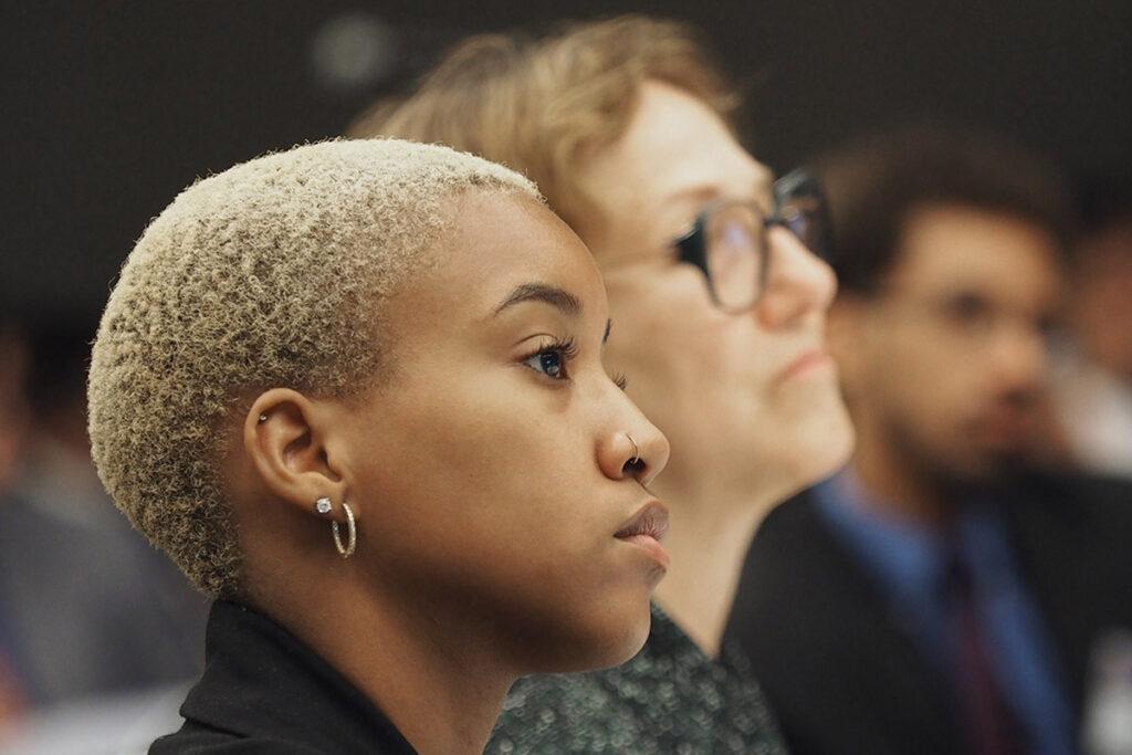 Kaliya Greenidge of Penn, and Joanne Levy, Director of the Penn summer minority research program