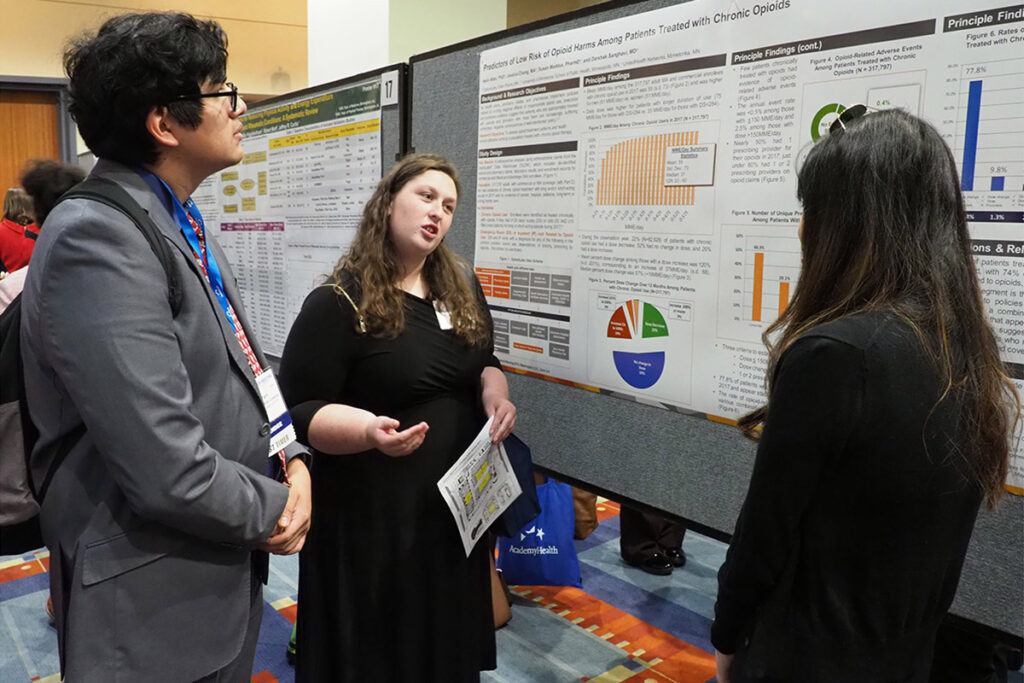 onathan Delgadillo Lorenzo of Penn and Josephine Carrier of Union University talk with Jessica Chang, a health services research PhD candidate at the University of Minnesota