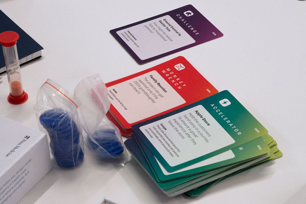 Accelerators in Health Care Workshop card game