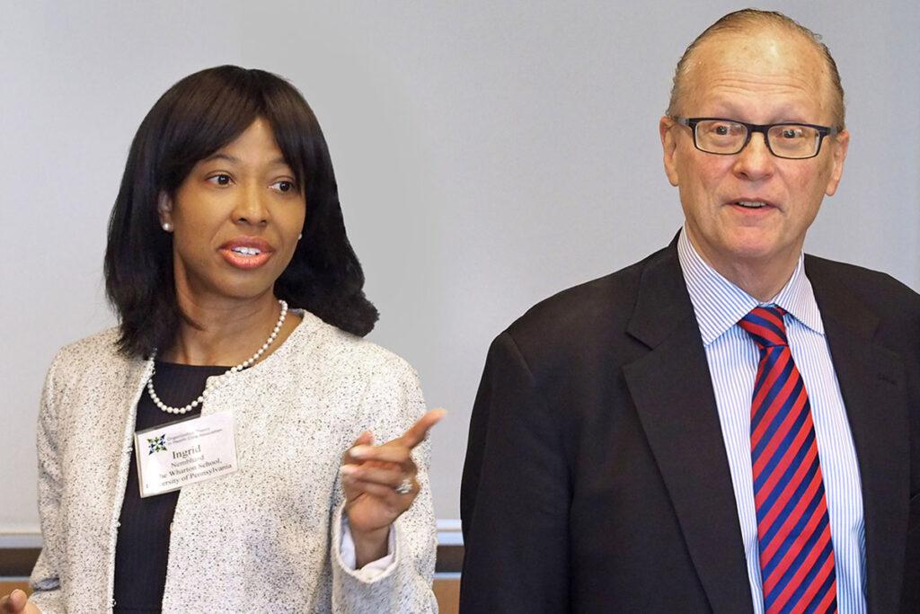 Wharton School professors Ingrid Nembhard and Lawton Burns
