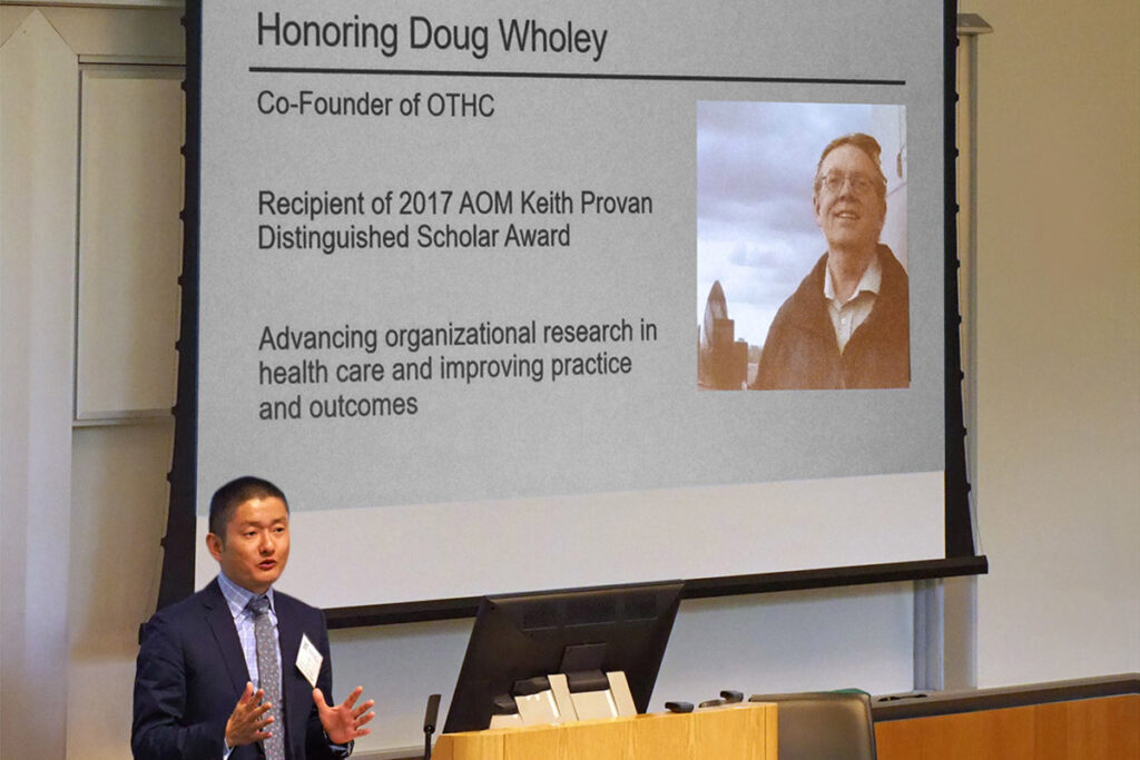OTHC memorial screen for late co-founder Douglas Wholey