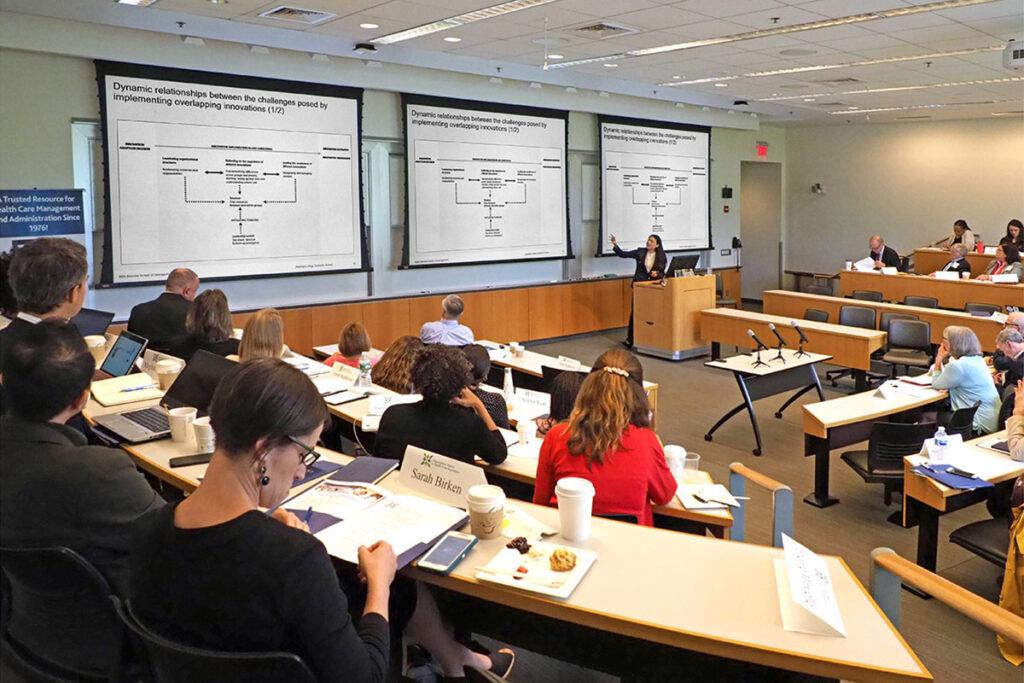Paola Roberta Boscolo, PhD, presents at the Wharton School.