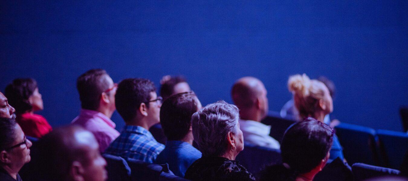 Event audience in auditorium