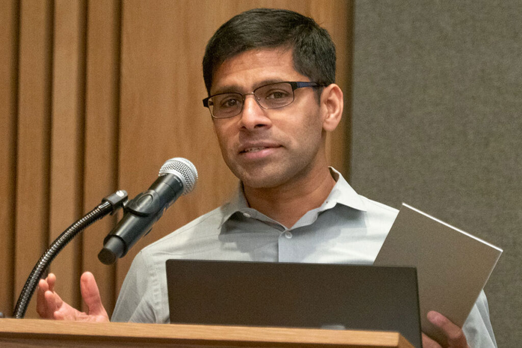 Harsha Thirumurthy, PhD, Associate Professor in the Department of Medical Ethics and Health Policy