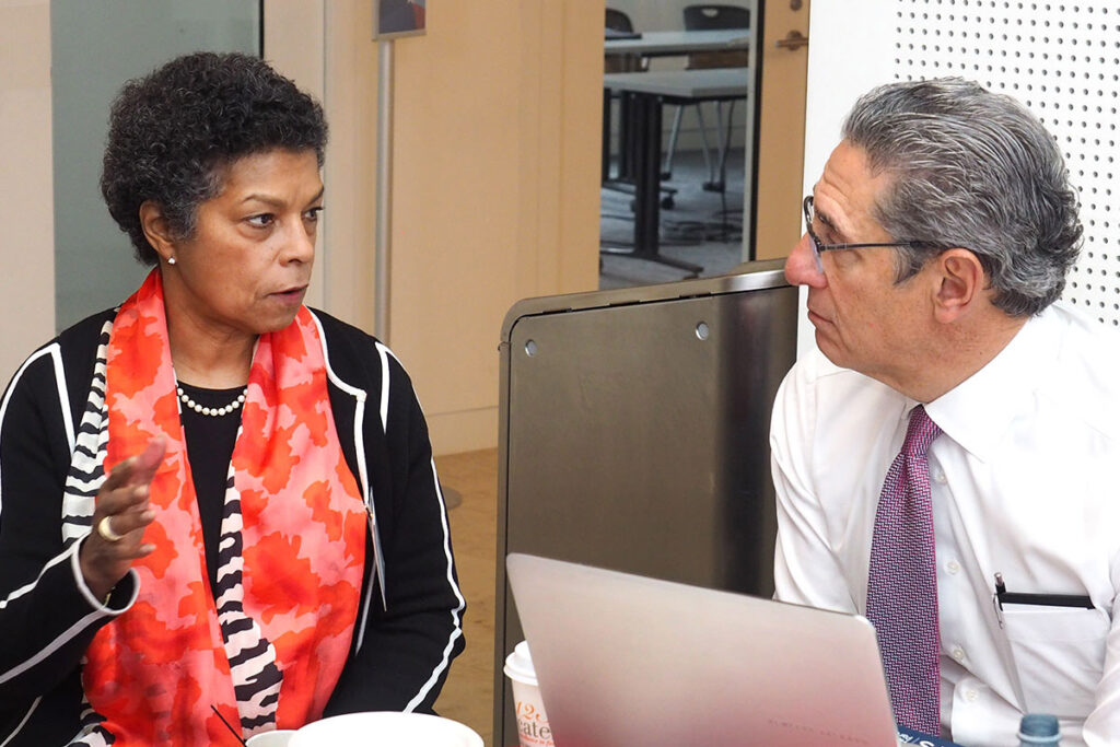 Risa Lavizzo-Mourey, MD, MBA, chats with Curtis Lane, MBA, Founding Partner of the MTS Health Partners financial services firm