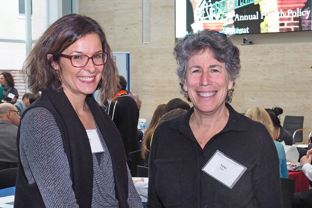 Rebecka Rosenquist, MSc escorts  Nicole Lurie, MD, MSPH, the former HHS Department Assistant Secretary for Emergency Preparedness and Response.