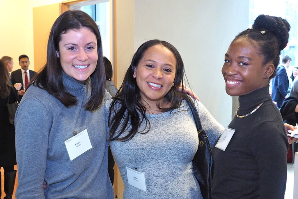 LDI staffers Emily Shields, Executive Assistant; Julia Mitchell, MPA, Health Policy Specialist; and Safa Browne, Research Coordinator.