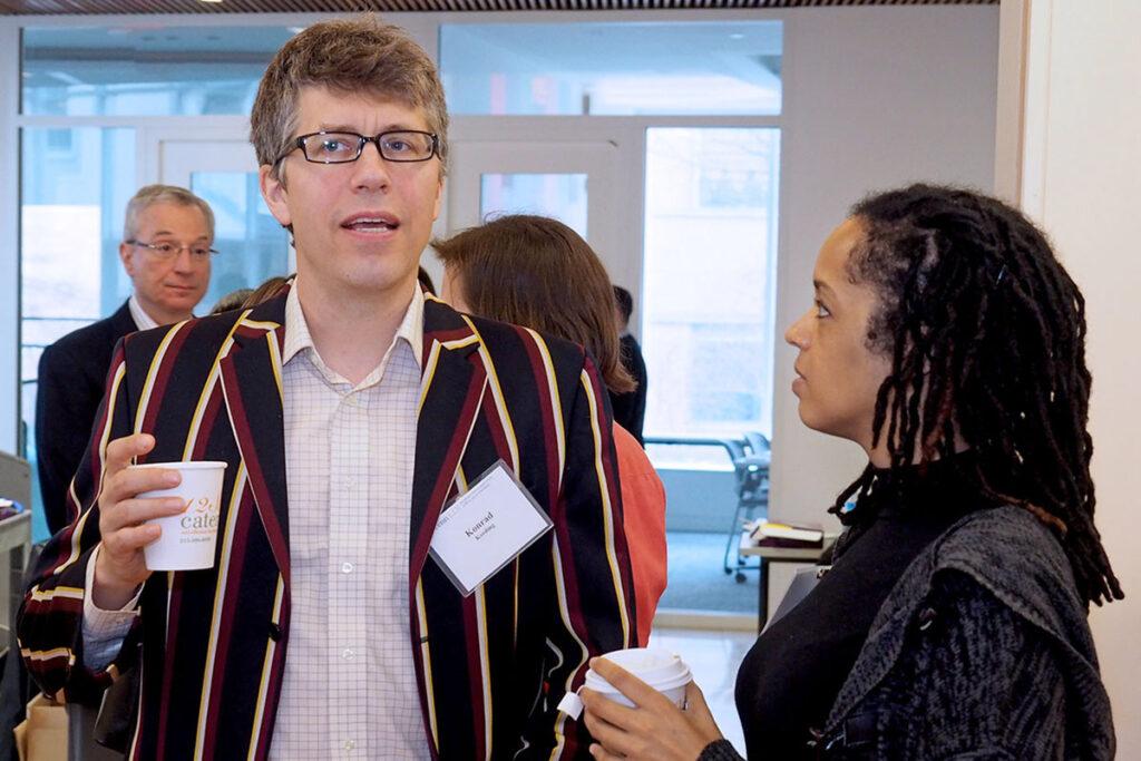 Konrad Kording, a Professor at Penn School of Engineering talks with LDI Senior Fellow Stephanie Creary, PhD, Assistant Professor of Management at the Wharton School