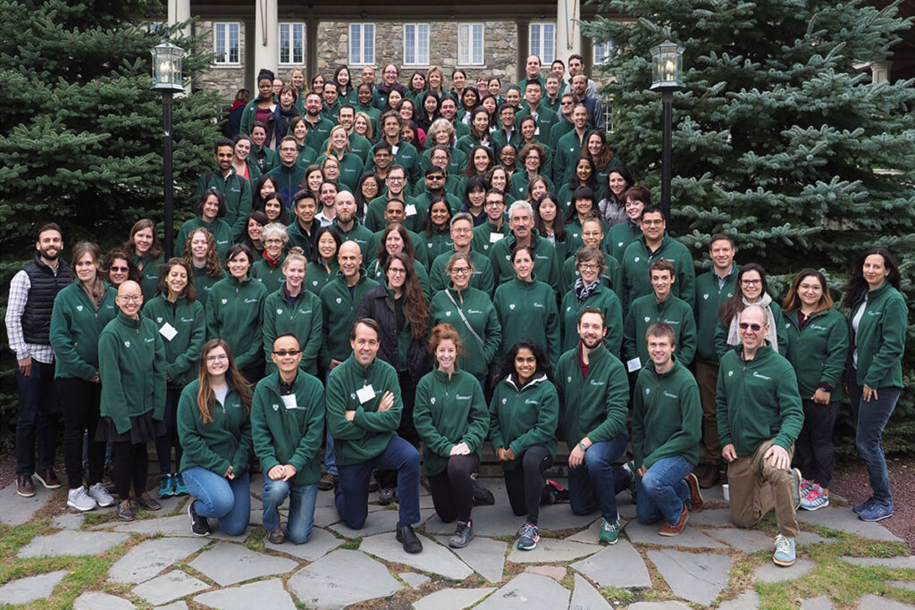 Group photo at Skytop Lodge of the 120 scientists attending the 2018 Penn/CMU Roybal Behavioral Economics Retreat