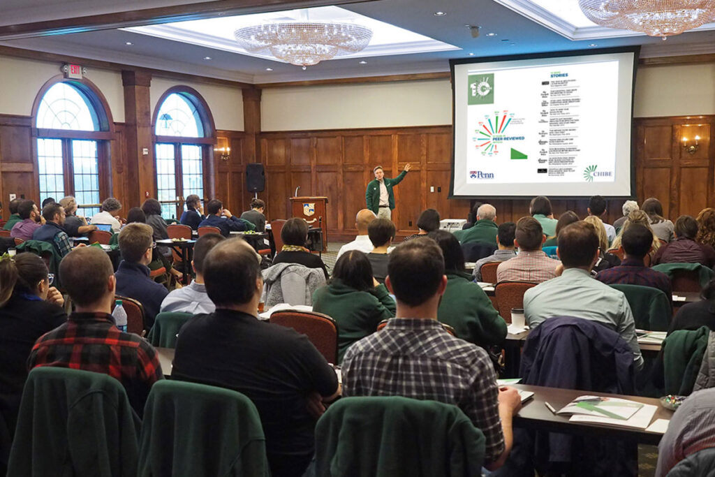 Penn Medicine Professor Kevin Volpp addressing the 2018 Penn/CMU Roybal Behavioral Economics Retreat