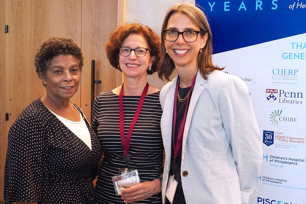 Risa Lavizzo-Mourey, MD, MBA; Marilyn Schapira, MD, MPH; and Judith Long, MD
