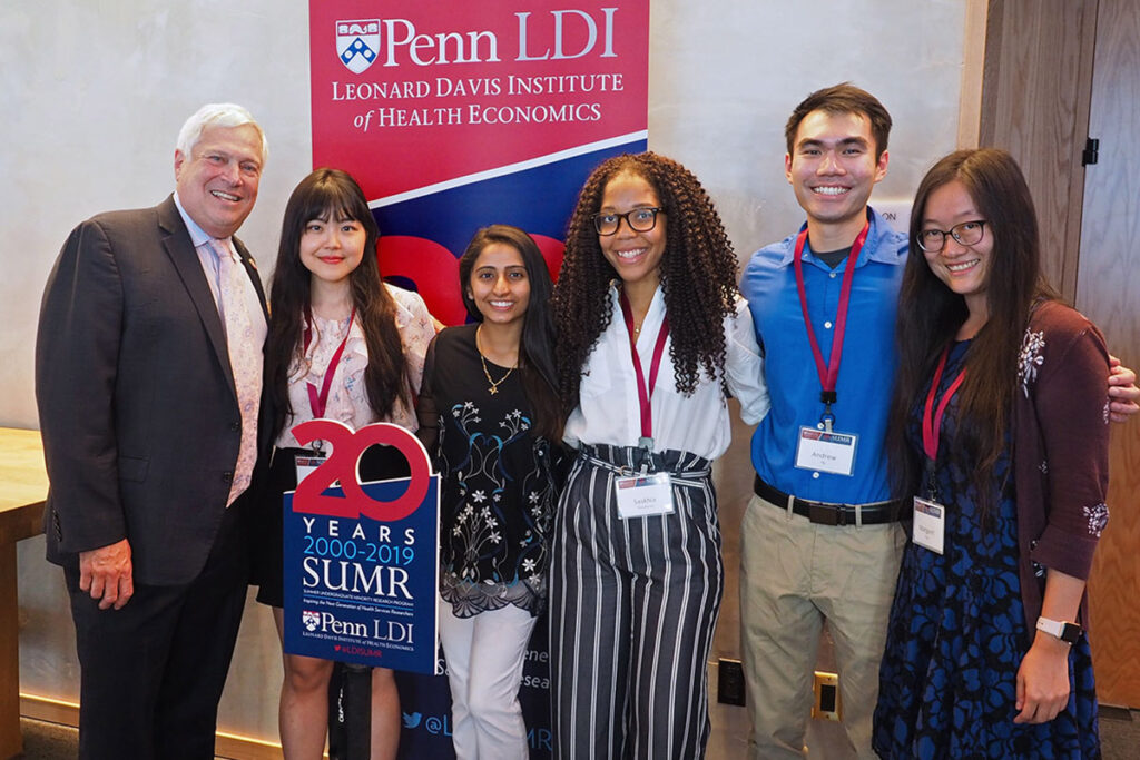 Mark Wolff, DDS, PhD, Dean of the Penn School of Dental Medicine; and DMD candidates Yu-Tien (Margaret) Lee, Nitika Gupta, Saskhia Dieudonné, Andrew Ng, and Margaret Yang, Director of Student Affairs at the Dental School.
