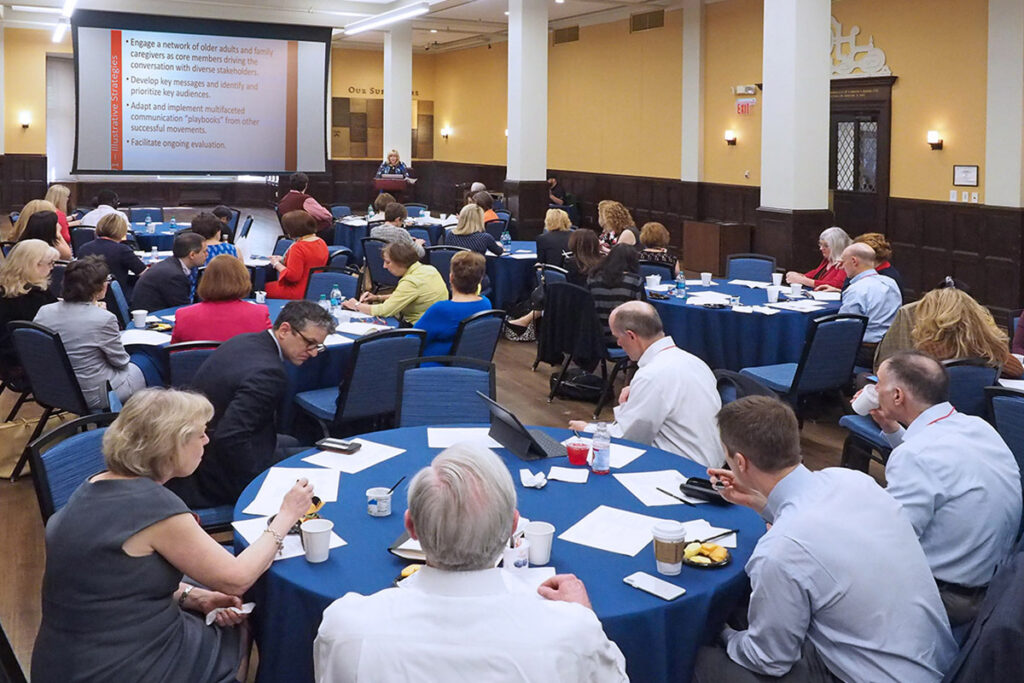 A scientific meeting in the University of Pennsylvania's Bodek Lounge