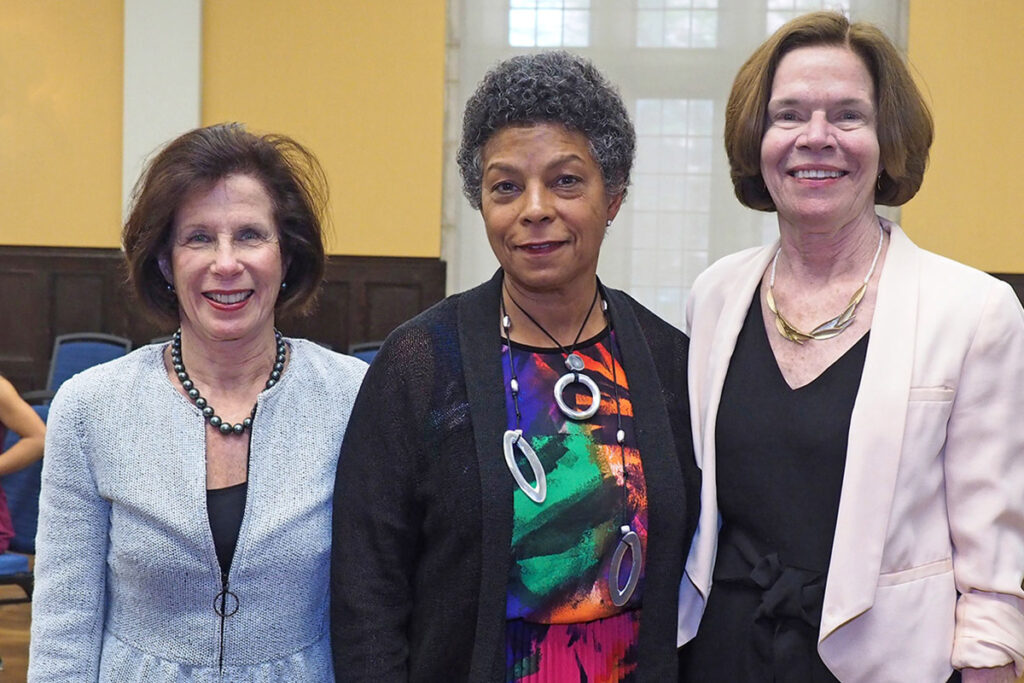 Economist Gail Wilensky, PhD, Risa Lavizzo-Mourey, MD, MBA, former CEO of the Robert Wood Johnson Foundation, and Penn Nursing's professor Mary Naylor