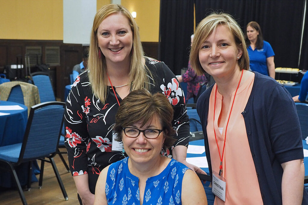 Justine Sefcik, PhD, RN, of  School of Penn Nursing, Susan Keim, MSN, MS, CRNP, Advanced Senior Lecturer, and Christina Whitehouse, PhD, CRNP, CDE, of the New Courtland Center