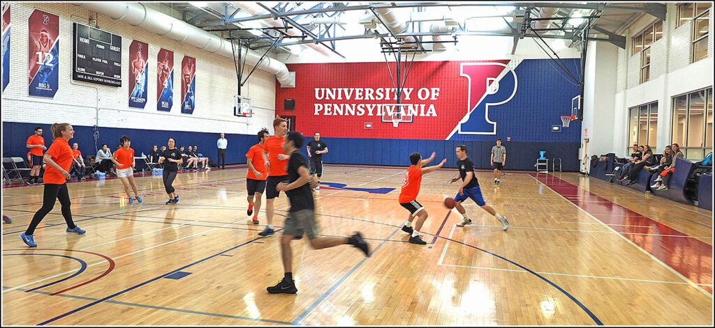 On the court at the 2017 Wharton School Health Care Management Faculty/PhD student basketball game.