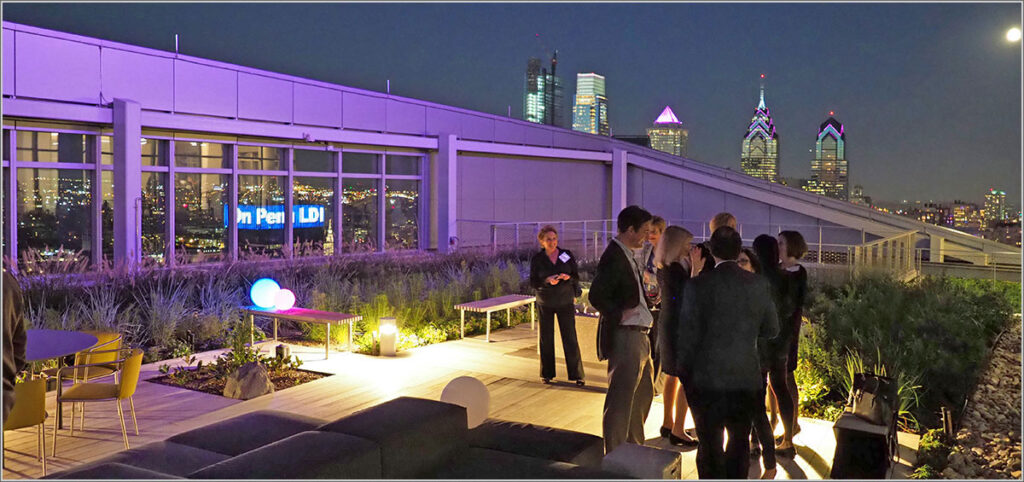 The 28th floor garden terrace of the FMC bulding provided a visually stunning venue for the LDI 50th Anniversary reception