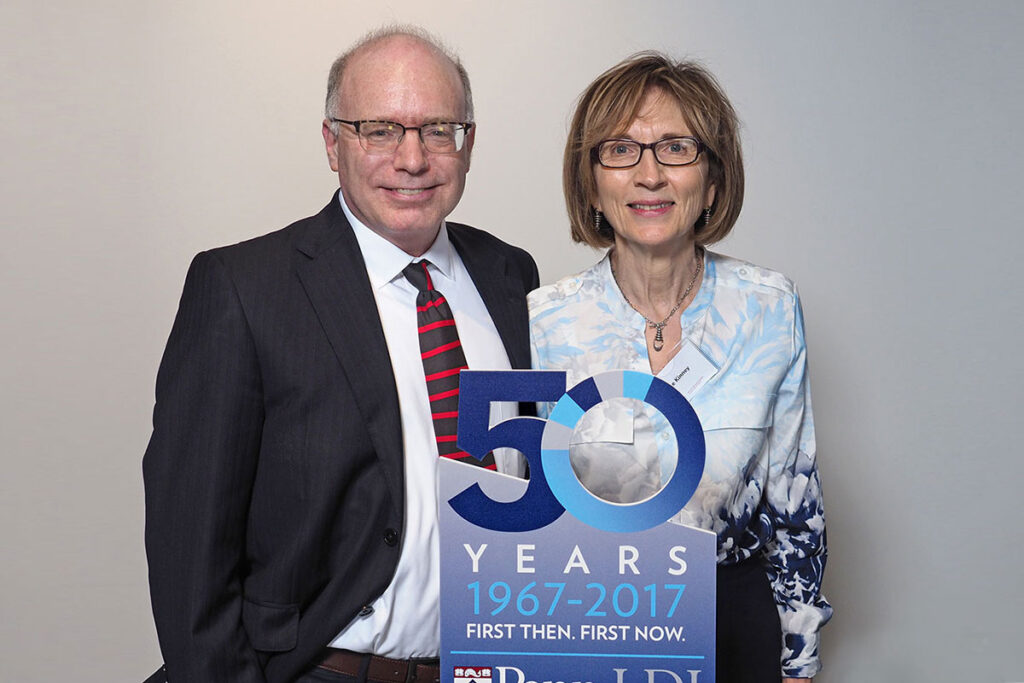 David Asch, MD, MBA, Professor at both the Perelman and Wharton Schools, Executive Director of the Penn Medicine Center for Health Care Innovation and former LDI Executive Director [1998-2012]; and June Kinney, MS, Associate Director of the Health Care Management MBA program and Lecturer at the Wharton School.