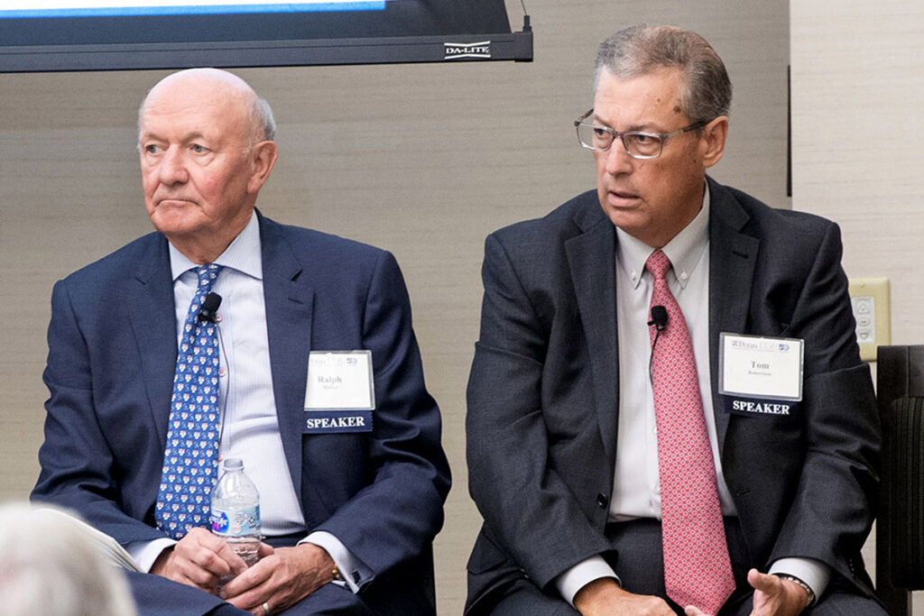 Penn Medicine CEO Ralph Muller, MA, and Vizient Research Institute Executive Director Tom Robertson, MBA