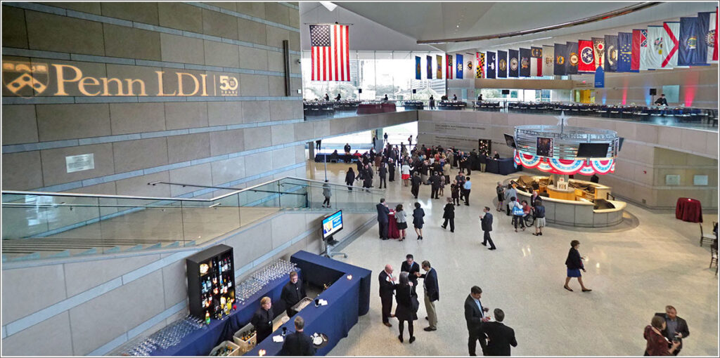 The 2017 50th Anniversary Dinner Celebration of the University of Pennsylvania's Leonard Davis Institute of Health Economics (LDI) was held in the National Constitution Center (NCC)