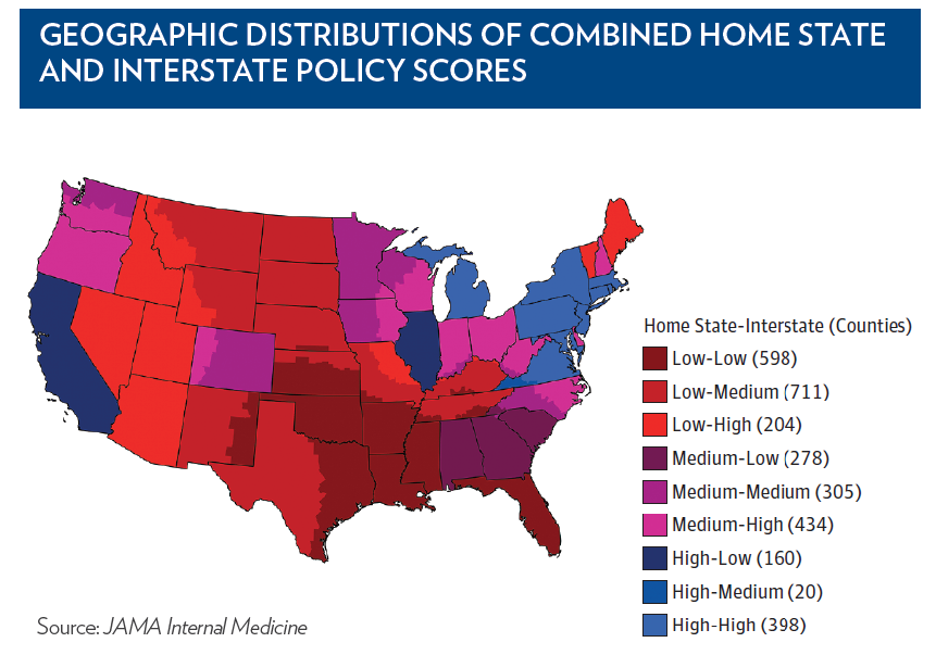 State Firearm Laws and Interstate Firearm Deaths From Homicide and ...