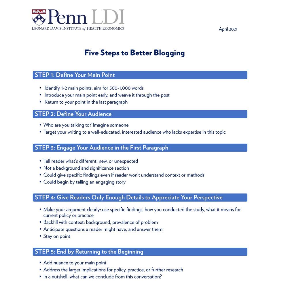 5 steps to better blogging
