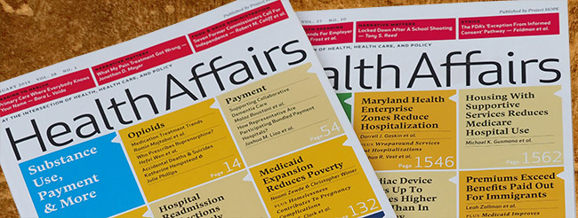 Health Affairs magazine covers
