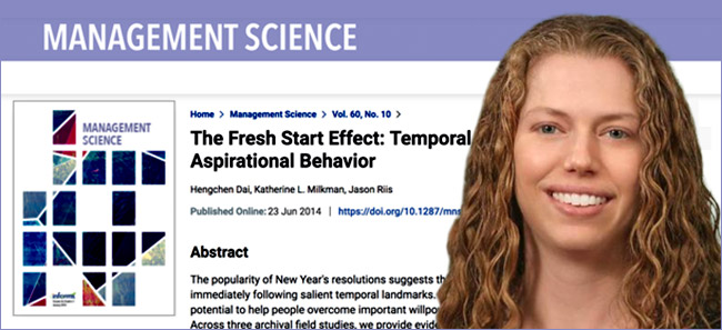 Katherine Milkman with Management Science cover