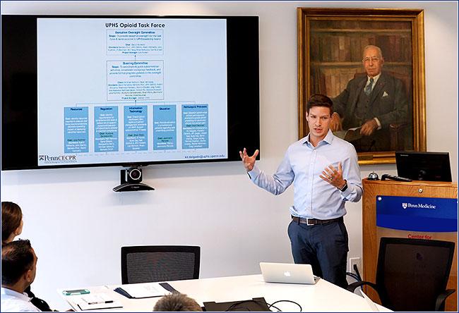 Kit Delgado of Penn Medicine presents opioid study
