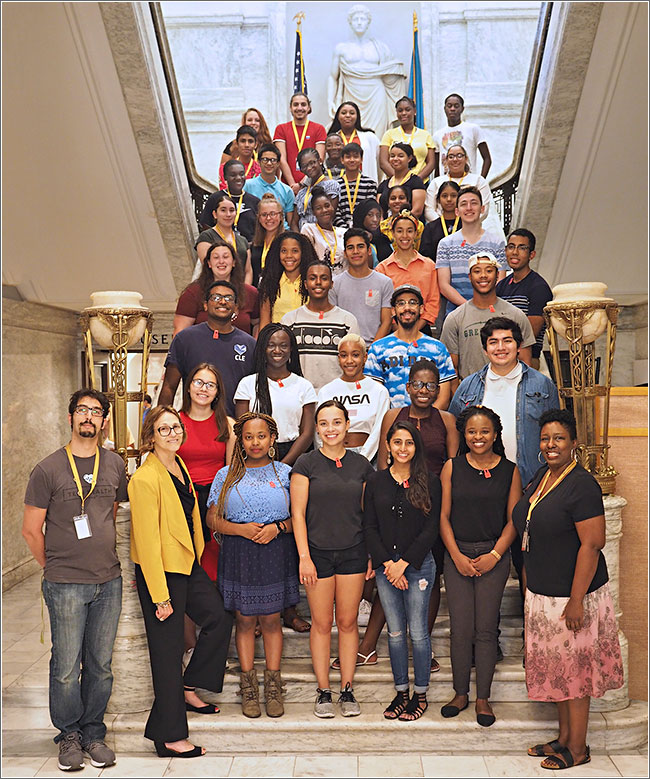 2019 SUMR scholars at the Philadelphia College of Physicians with Karabots Scholars