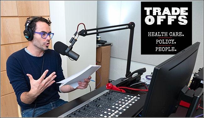 Dan Gorenstein recording the Tradeoffs podcast