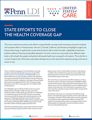 United States of Health Care Research Brief