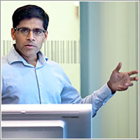 Harsha Thirmurthy, PhD, at the Leonard Davis Institute of Health Economics