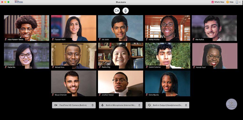 Class members of the 2020 University of Pennsylvania Summer Undergraduate Minority Research program (SUMR).