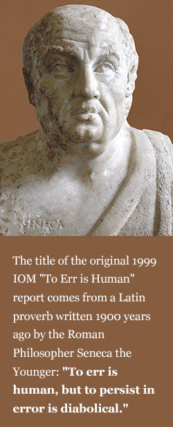 """Explanation of original """"To Err is Human"""" proverb by Seneca the philosopher of ancient Rome"""