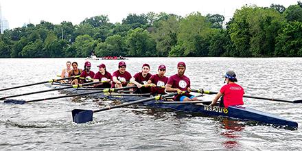 LDI SUMR Scholars Scull the Schuylkill River